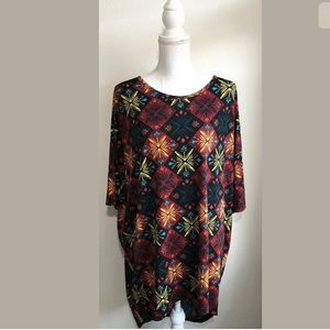 Lularoe Irma Loose Knit High Low Tunic Top Size XL